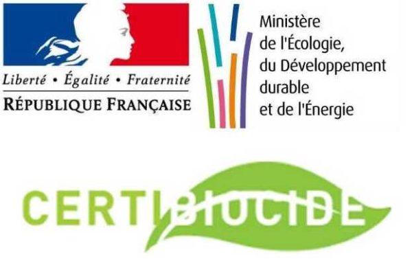 Marianne drapeau français certibiocide ministère de l'écologie