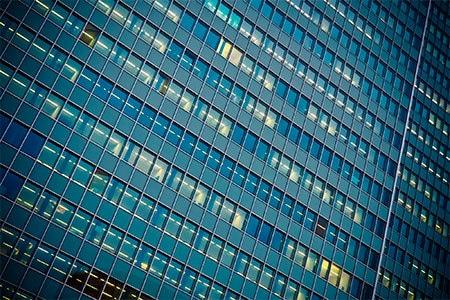 immeuble vitré bureaux
